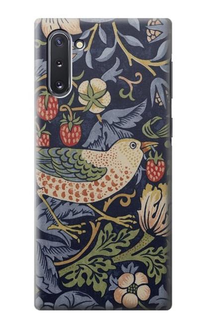S3791 ウィリアムモリスストロベリーシーフ生地 William Morris Strawberry Thief Fabric Samsung Galaxy Note 10 バックケース、フリップケース・カバー