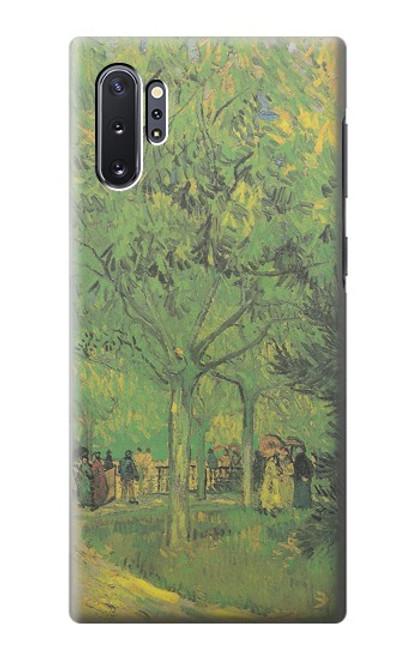 S3748 フィンセント・ファン・ゴッホ パブリックガーデンの車線 Van Gogh A Lane in a Public Garden Samsung Galaxy Note 10 Plus バックケース、フリップケース・カバー