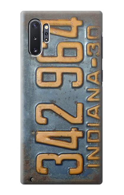 S3750 ヴィンテージ車のナンバープレート Vintage Vehicle Registration Plate Samsung Galaxy Note 10 Plus バックケース、フリップケース・カバー