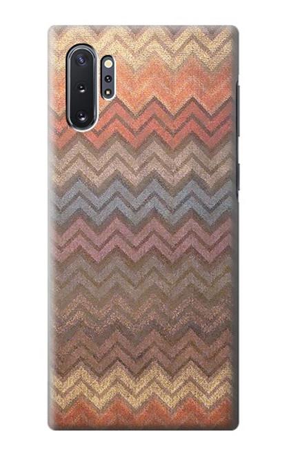 S3752 ジグザグ生地パターングラフィックプリント Zigzag Fabric Pattern Graphic Printed Samsung Galaxy Note 10 Plus バックケース、フリップケース・カバー