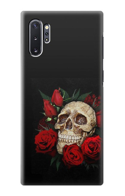 S3753 ダークゴシックゴススカルローズ Dark Gothic Goth Skull Roses Samsung Galaxy Note 10 Plus バックケース、フリップケース・カバー