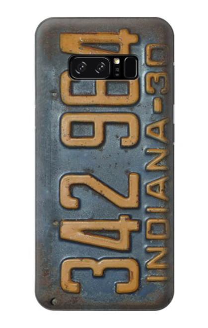 S3750 ヴィンテージ車のナンバープレート Vintage Vehicle Registration Plate Note 8 Samsung Galaxy Note8 バックケース、フリップケース・カバー