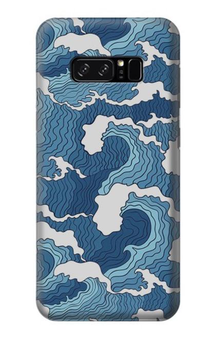 S3751 波のパターン Wave Pattern Note 8 Samsung Galaxy Note8 バックケース、フリップケース・カバー