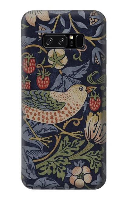 S3791 ウィリアムモリスストロベリーシーフ生地 William Morris Strawberry Thief Fabric Note 8 Samsung Galaxy Note8 バックケース、フリップケース・カバー