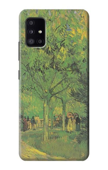 S3748 フィンセント・ファン・ゴッホ パブリックガーデンの車線 Van Gogh A Lane in a Public Garden Samsung Galaxy A41 バックケース、フリップケース・カバー