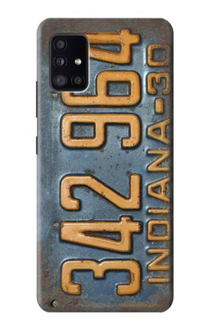 S3750 ヴィンテージ車のナンバープレート Vintage Vehicle Registration Plate Samsung Galaxy A41 バックケース、フリップケース・カバー