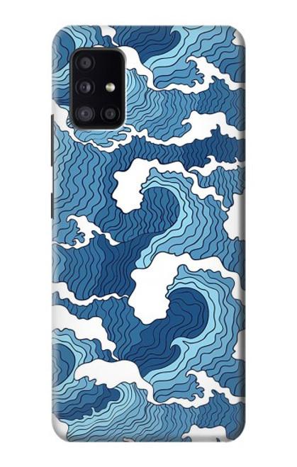 S3751 波のパターン Wave Pattern Samsung Galaxy A41 バックケース、フリップケース・カバー
