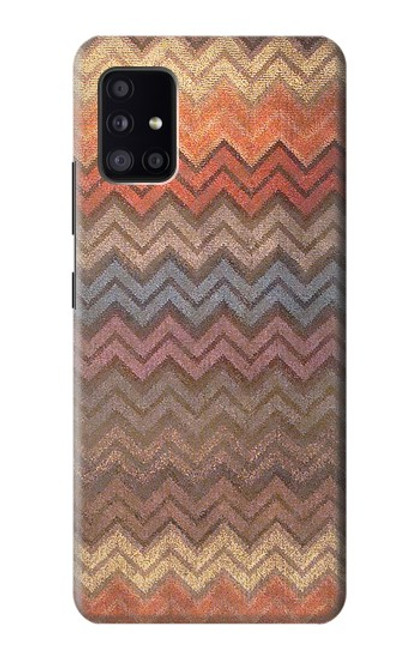 S3752 ジグザグ生地パターングラフィックプリント Zigzag Fabric Pattern Graphic Printed Samsung Galaxy A41 バックケース、フリップケース・カバー