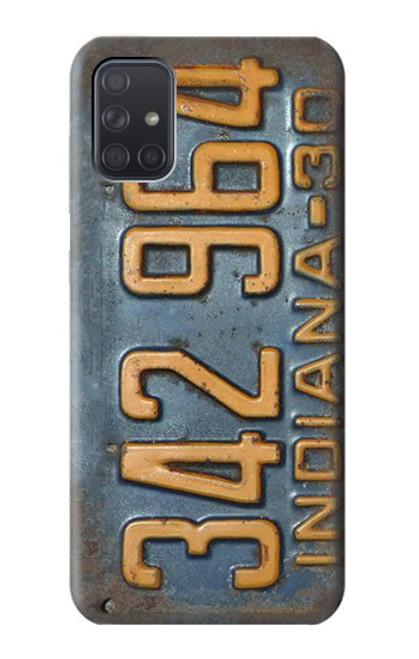S3750 ヴィンテージ車のナンバープレート Vintage Vehicle Registration Plate Samsung Galaxy A71 バックケース、フリップケース・カバー