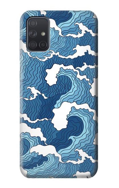 S3751 波のパターン Wave Pattern Samsung Galaxy A71 バックケース、フリップケース・カバー