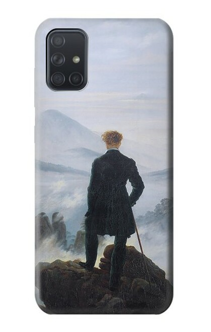S3789 霧の海の上の放浪者 Wanderer above the Sea of Fog Samsung Galaxy A71 バックケース、フリップケース・カバー