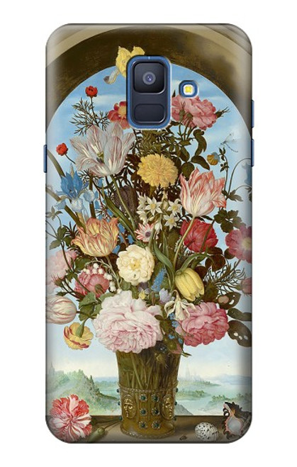 S3749 花瓶 Vase of Flowers Samsung Galaxy A6 (2018) バックケース、フリップケース・カバー