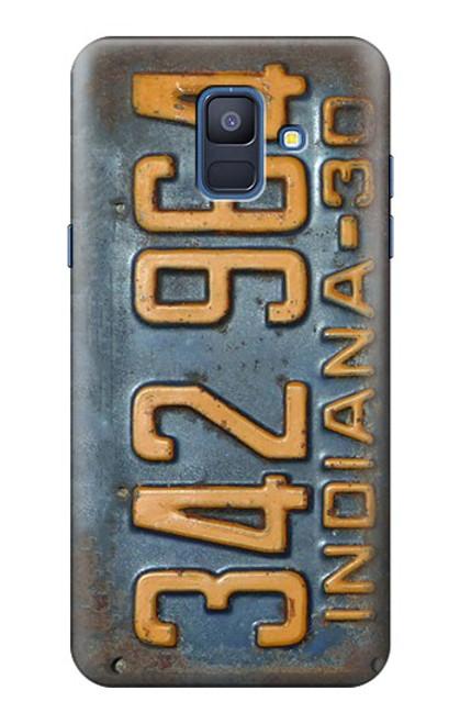 S3750 ヴィンテージ車のナンバープレート Vintage Vehicle Registration Plate Samsung Galaxy A6 (2018) バックケース、フリップケース・カバー