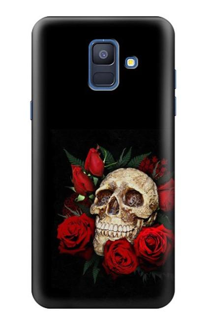 S3753 ダークゴシックゴススカルローズ Dark Gothic Goth Skull Roses Samsung Galaxy A6 (2018) バックケース、フリップケース・カバー