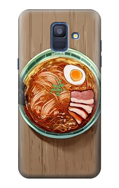 S3756 ラーメン Ramen Noodles Samsung Galaxy A6 (2018) バックケース、フリップケース・カバー