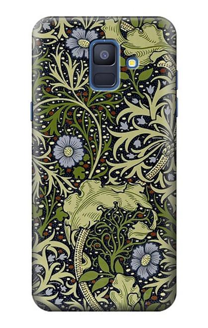 S3792 ウィリアムモリス William Morris Samsung Galaxy A6 (2018) バックケース、フリップケース・カバー