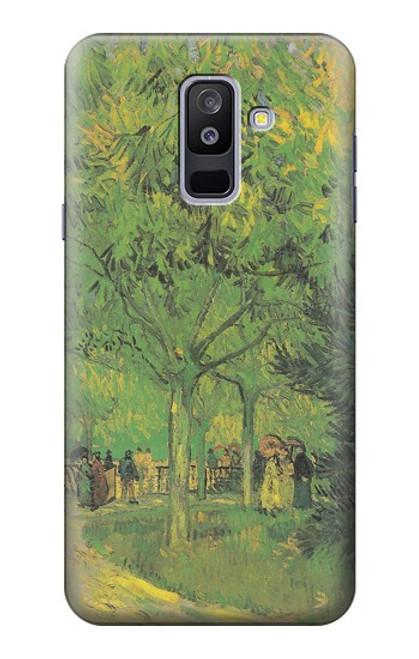 S3748 フィンセント・ファン・ゴッホ パブリックガーデンの車線 Van Gogh A Lane in a Public Garden Samsung Galaxy A6+ (2018), J8 Plus 2018, A6 Plus 2018  バックケース、フリップケース・カバー