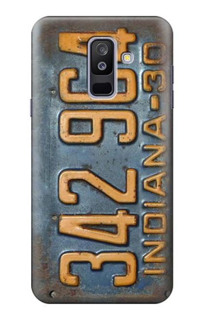 S3750 ヴィンテージ車のナンバープレート Vintage Vehicle Registration Plate Samsung Galaxy A6+ (2018), J8 Plus 2018, A6 Plus 2018  バックケース、フリップケース・カバー