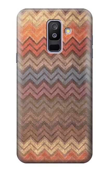 S3752 ジグザグ生地パターングラフィックプリント Zigzag Fabric Pattern Graphic Printed Samsung Galaxy A6+ (2018), J8 Plus 2018, A6 Plus 2018  バックケース、フリップケース・カバー