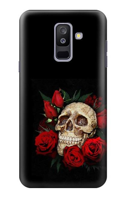 S3753 ダークゴシックゴススカルローズ Dark Gothic Goth Skull Roses Samsung Galaxy A6+ (2018), J8 Plus 2018, A6 Plus 2018  バックケース、フリップケース・カバー