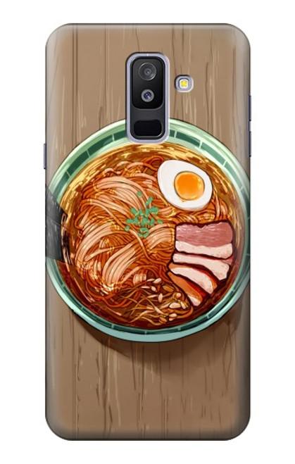 S3756 ラーメン Ramen Noodles Samsung Galaxy A6+ (2018), J8 Plus 2018, A6 Plus 2018  バックケース、フリップケース・カバー