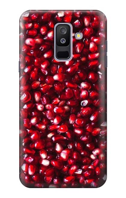 S3757 ザクロ Pomegranate Samsung Galaxy A6+ (2018), J8 Plus 2018, A6 Plus 2018  バックケース、フリップケース・カバー