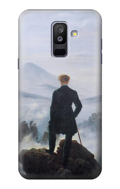 S3789 霧の海の上の放浪者 Wanderer above the Sea of Fog Samsung Galaxy A6+ (2018), J8 Plus 2018, A6 Plus 2018  バックケース、フリップケース・カバー