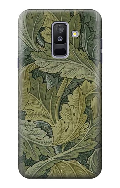 S3790 ウィリアムモリスアカンサスの葉 William Morris Acanthus Leaves Samsung Galaxy A6+ (2018), J8 Plus 2018, A6 Plus 2018  バックケース、フリップケース・カバー
