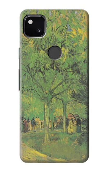 S3748 フィンセント・ファン・ゴッホ パブリックガーデンの車線 Van Gogh A Lane in a Public Garden Google Pixel 4a バックケース、フリップケース・カバー