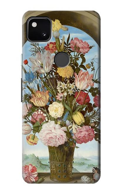 S3749 花瓶 Vase of Flowers Google Pixel 4a バックケース、フリップケース・カバー