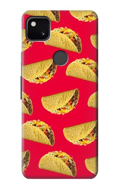 S3755 メキシコのタコスタコス Mexican Taco Tacos Google Pixel 4a バックケース、フリップケース・カバー