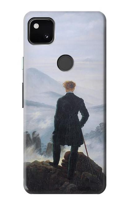 S3789 霧の海の上の放浪者 Wanderer above the Sea of Fog Google Pixel 4a バックケース、フリップケース・カバー
