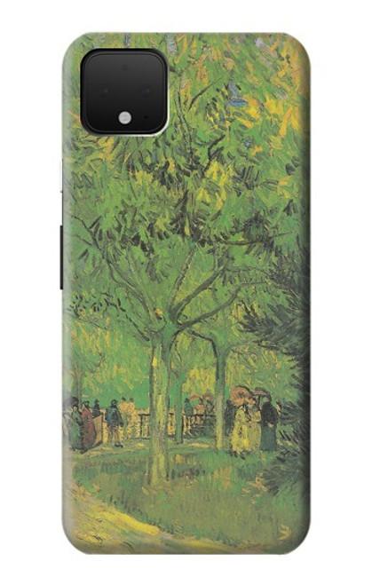 S3748 フィンセント・ファン・ゴッホ パブリックガーデンの車線 Van Gogh A Lane in a Public Garden Google Pixel 4 XL バックケース、フリップケース・カバー