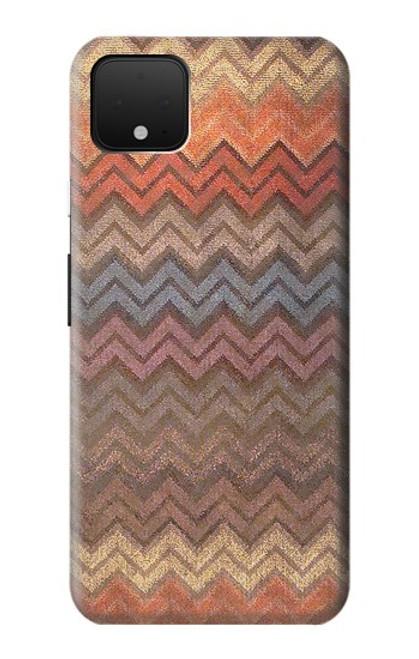 S3752 ジグザグ生地パターングラフィックプリント Zigzag Fabric Pattern Graphic Printed Google Pixel 4 XL バックケース、フリップケース・カバー