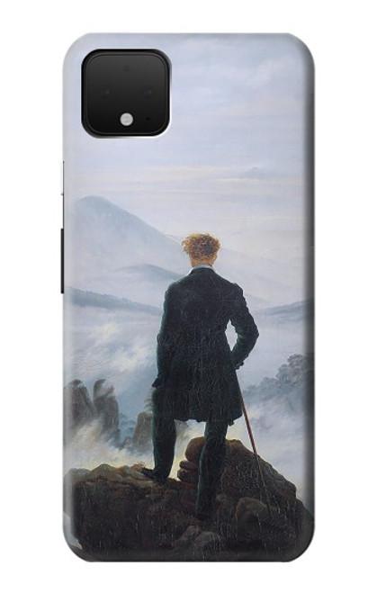 S3789 霧の海の上の放浪者 Wanderer above the Sea of Fog Google Pixel 4 XL バックケース、フリップケース・カバー
