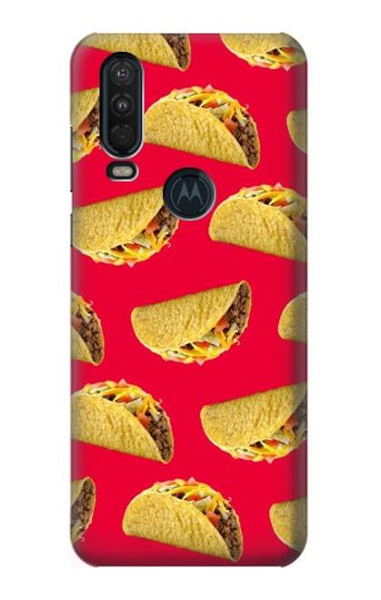 S3755 メキシコのタコスタコス Mexican Taco Tacos Motorola One Action (Moto P40 Power) バックケース、フリップケース・カバー