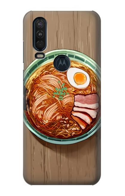 S3756 ラーメン Ramen Noodles Motorola One Action (Moto P40 Power) バックケース、フリップケース・カバー