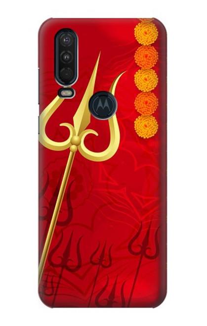 S3788 シブトリシューラ Shiv Trishul Motorola One Action (Moto P40 Power) バックケース、フリップケース・カバー
