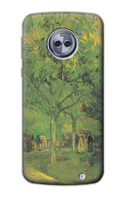S3748 フィンセント・ファン・ゴッホ パブリックガーデンの車線 Van Gogh A Lane in a Public Garden Motorola Moto X4 バックケース、フリップケース・カバー