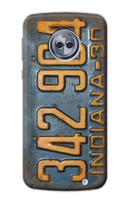 S3750 ヴィンテージ車のナンバープレート Vintage Vehicle Registration Plate Motorola Moto X4 バックケース、フリップケース・カバー