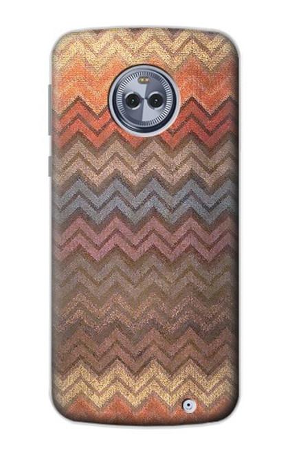 S3752 ジグザグ生地パターングラフィックプリント Zigzag Fabric Pattern Graphic Printed Motorola Moto X4 バックケース、フリップケース・カバー