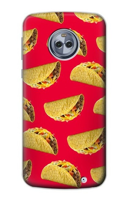S3755 メキシコのタコスタコス Mexican Taco Tacos Motorola Moto X4 バックケース、フリップケース・カバー