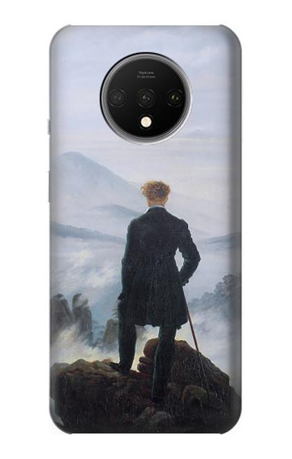 S3789 霧の海の上の放浪者 Wanderer above the Sea of Fog OnePlus 7T バックケース、フリップケース・カバー