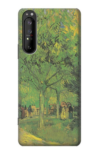S3748 フィンセント・ファン・ゴッホ パブリックガーデンの車線 Van Gogh A Lane in a Public Garden Sony Xperia 1 II バックケース、フリップケース・カバー