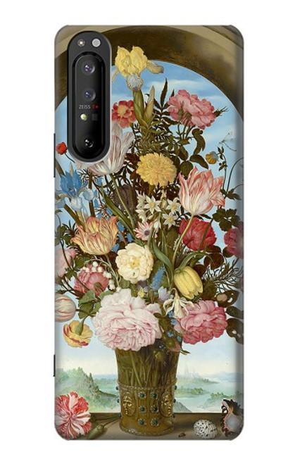 S3749 花瓶 Vase of Flowers Sony Xperia 1 II バックケース、フリップケース・カバー