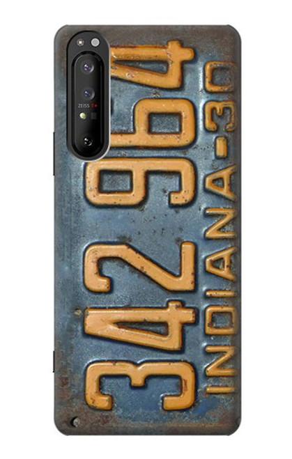 S3750 ヴィンテージ車のナンバープレート Vintage Vehicle Registration Plate Sony Xperia 1 II バックケース、フリップケース・カバー