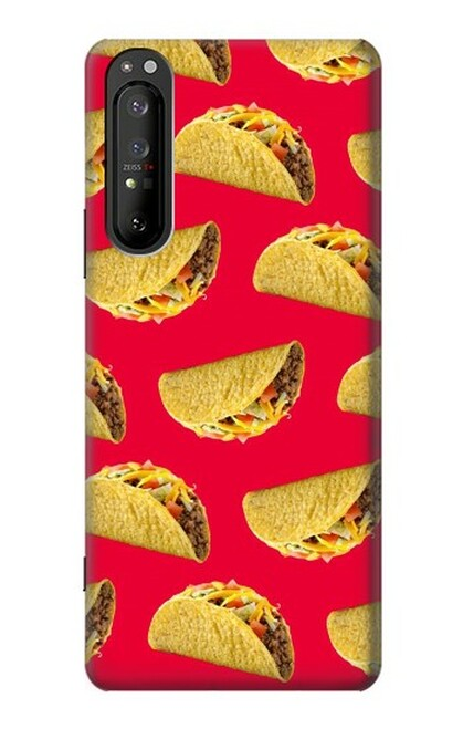 S3755 メキシコのタコスタコス Mexican Taco Tacos Sony Xperia 1 II バックケース、フリップケース・カバー