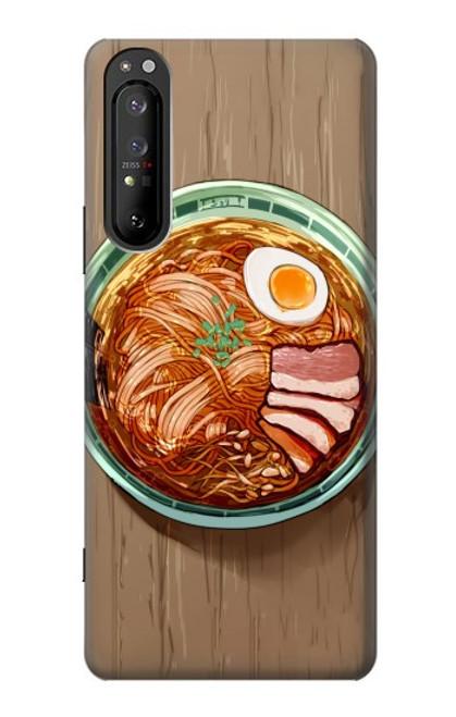 S3756 ラーメン Ramen Noodles Sony Xperia 1 II バックケース、フリップケース・カバー