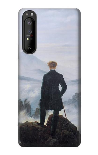S3789 霧の海の上の放浪者 Wanderer above the Sea of Fog Sony Xperia 1 II バックケース、フリップケース・カバー