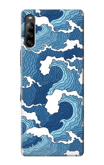 S3751 波のパターン Wave Pattern Sony Xperia L4 バックケース、フリップケース・カバー